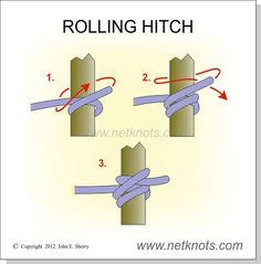 Rolling Hitch - Secure a line to a post