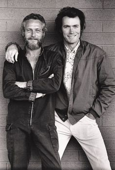 """Love this picture of two great actors from """"back in the day""""."""