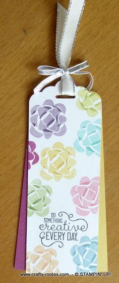 Picture Perfect Birthday stamp set makes lovely bookmarks ready to be inserted into the Spring/Summer Catalogues. I made the bookmark/tag as part of a ...