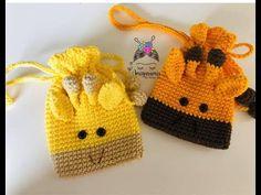 Teje bolsa jirafa, amigurumis by Petus - YouTube Crochet Baby, Knitted Hats, Knitting, Ideas Para, Bags, Youtube, Crochet Purses, Crochet Hats, How To Knit