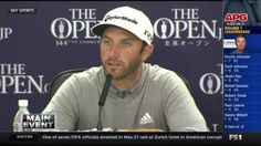 Dustin Johnson, Jordan Spieth and Tiger Woods speak after the 1st round at the British Open.