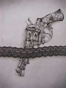 Garter pistol - Tattoo design