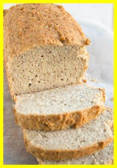 A quick and easy almond flour bread that does not taste eggy. The perfect keto bread recipe for sandwiches! Gluten free and low in carbs. Almond Flour Bread, Almond Flour Recipes, Bread Recipes, Low Carb Recipes, Fish Recipes, Appetizer Recipes, Soup Recipes, Dinner Recipes, Best Keto Bread