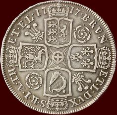 Catawiki online auction house: Great Britain - Halfcrown 1717 TIRTIO - George I - silver Old British Coins, King George I, World Coins, Chalk Art, Coin Collecting, Great Britain, Old And New, 3 D, Auction