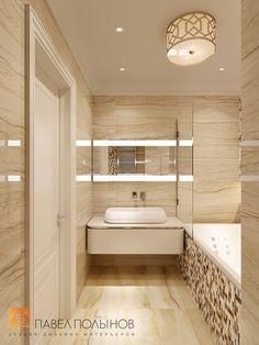 Фото: Ванная - Квартира в стиле американской неоклассики, ЖК «Академ-Парк», 107 кв.м.