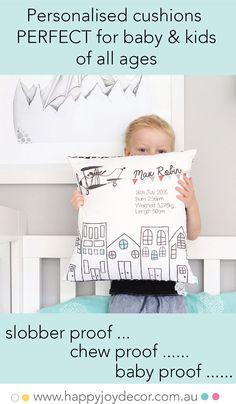 Make your little one smile Girl Nursery, Nursery Ideas, Nursery Decor, Room Ideas, Boys Room Colors, Kids Decor, Decor Ideas, Boys Room Design, Personalised Cushions