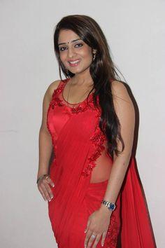 Nikita Thukral Latest Photos in Red Saree ★ Desipixer  ★