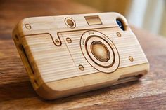 Wooden Camera Iphone Case | Raw Wood