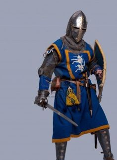 This could be Red in his masked knight costume. Note the armor of this time is chain mail, not plate.