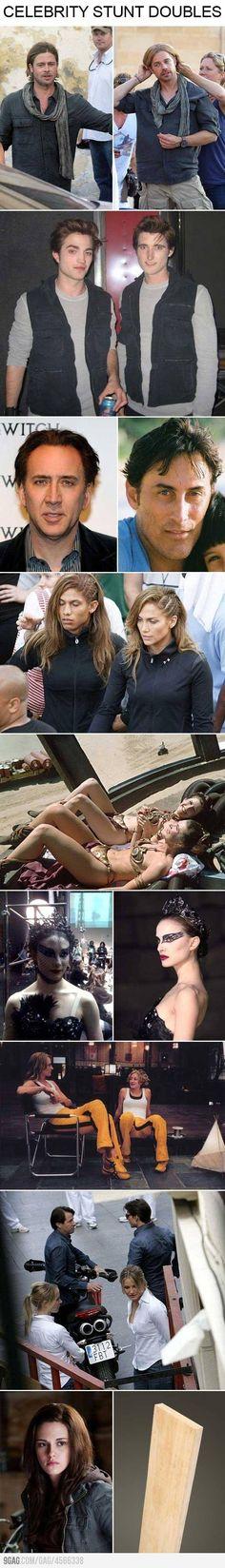 Celebrity stunt doubles.