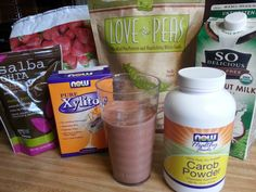 Chocolate Covered Strawberry Protein Shake!     Protein Shake Free of dairy, gluten, sugar, corn, peanuts, soy, and eggs.  Pretty tasty!!!  The Virgin Diet would approve!