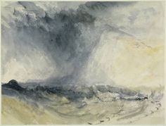Joseph Mallord William Turner 'Shakespeare Cliff, Dover', c.1825 - Watercolour and scratching out on paper -  Dimensions Support: 181 x 245 mm - © The Fitzwilliam Museum, Cambridge 2003