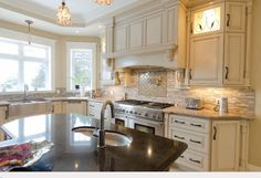 natural limestone countertops and backsplash