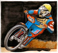 Kozza Smith, Young up and coming British league speedway rider from Cesnock NSW Australia