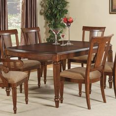 Flexsteel Wynwood Collection Brendon Rectangular Dining Table - AHFA - Dining Room Table Dealer Locator