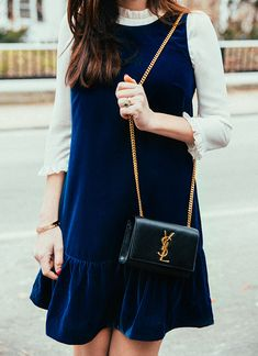 Love the velvet as well as the layered style