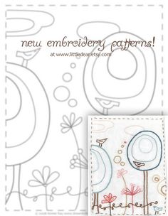 Happy Garden embroidery pattern