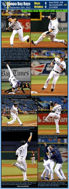 Tampa Bay Rays - 09/20/2013. RAYS 5 - ORIOLES 4