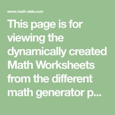 This page is for viewing the dynamically created Math Worksheets from the different math generator pages. Number Bonds Worksheets, Volume Worksheets, Graphing Worksheets, Homeschool Worksheets, Geometry Worksheets, Math Resources, Math Tutor, Teaching Math, Math Education