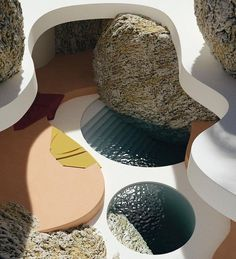 incredible swimming pool amongst giant rocks and with round shapes to go along. dreamy summer scenes by Organic Architecture, Landscape Architecture, Interior Architecture, Pavilion Architecture, Residential Architecture, Contemporary Architecture, Architecture Details, Landscape Design, Zaha Hadid