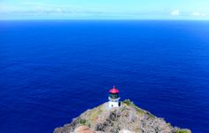 Makapuu Point Lighthouse on Oahu was built in 1909 on a sea cliff, and is an official Heritage Site of Hawaii. — at Makapu'u Lighthouse. Go Hawaii, Hawaii Honeymoon, Hawaii Life, Hawaii Vacation, Hawaii Travel, Honeymoon Ideas, Beautiful Islands, Beautiful Places, Sea And Ocean