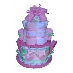 Gâteau de couches Tendresse en vert et rose Cadeau Baby Shower, Children, Rose, Diaper Cakes, Green, Young Children, Boys, Pink, Kids