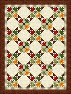 Sew a Quilt from an All-Time Favorite Design, Maple Leaf: Autumn Leaves Quilt Pattern