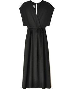 Black Sparrow Wrap Dress by Odylyne