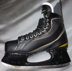 Launch Skates (spring suspension ice skates for a faster skating experience!) - prototype with Bauer boot  www.LaunchSkates.com Skates, Ice Skating, Dr. Martens, Combat Boots, Product Launch, Spring, Fashion, Moda, Fashion Styles
