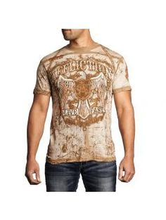 Men's T-Shirt Affliction AC Tried True Rust