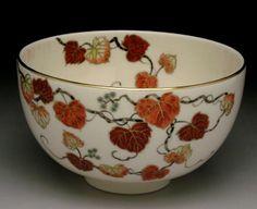 橋本陶正山(とうしようざん)作 薩摩焼蔦絵茶碗 #teabowl