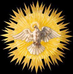 Come Holy Spirit. Christian Symbols, Christian Art, Catholic Art, Religious Art, Saint Martha, Jesus Painting, Saint Esprit, Spirited Art, Spiritus
