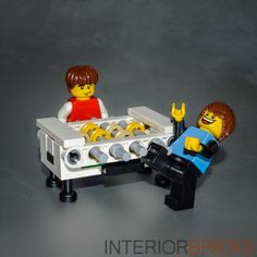 LEGO: Foosball Table Set (Custom/White) - with Instructions     [furniture,game] #LEGO