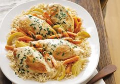 Farmhouse Chicken Dinner Recipe - Warm and comforting, chicken and rice for dinner.