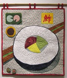 """If You Knew Sushi (Like I Know Sushi)"" quilt by Reva Basch at Jereva"