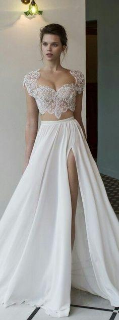 Two pieces wedding dress