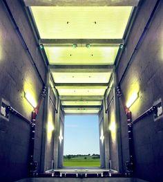 #reflection #corridor #opening #symmetry garage #landscape creation © Jonathan Stutz