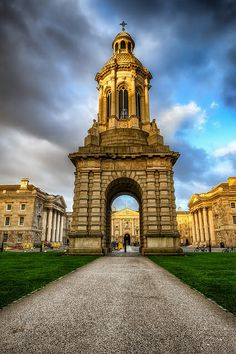 The Bell Tower at Trinity College, Dublin, Ireland
