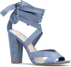 e349250f76 Blocked Heeled 'Natty' Sandals Fancy Shoes, Blue Shoes, Blue Block Heels,