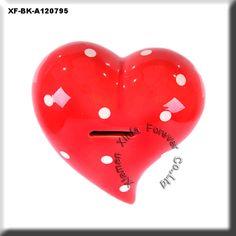 ceramic heart coin bank