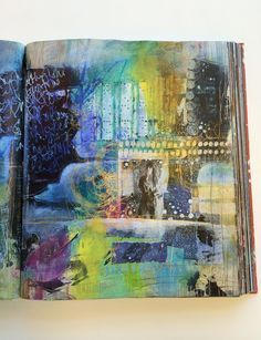 Art journal page by Roxanne Coble