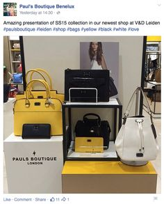 Stunning photos of Paul's Boutique SS15 from our newest shop - V&D Leiden. https://www.facebook.com/PaulsBoutiqueBenelux x #paulsboutique
