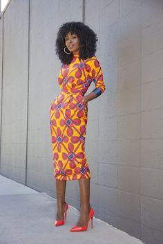http://www.shorthaircutsforblackwomen.com/african-dresses/ Stella Jean Printed Midi Dress