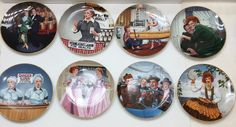 I LOVE LUCY COA Hamilton Plate Lot Complete 8 Set EVERYTHING INCLUDED Boxes
