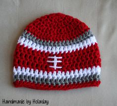 Crochet Football Hat Football Beanie Baby by HandmadeByHoladay, $15.00