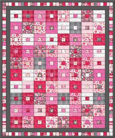 Lets Quilt Something: Beat of my Heart - Free Quilt Pattern - Jelly Roll