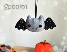 Hey, I found this really awesome Etsy listing at https://www.etsy.com/listing/247027356/felt-halloween-decor-bat-ornament