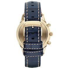 Buy Emporio Armani Men's Beta Leather Watch, Blue from our Men's Accessories & Watches Offers range at John Lewis & Partners. Armani Watches, Stainless Steel Case, Emporio Armani, John Lewis, Soft Leather, Watches For Men, Stylish, Blue, Stuff To Buy