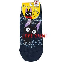 SOCKS - 23-25cm / 9-9.8in - Short - Strong Toes Heels - Blue - Jiji - Kiki's Delivery Service - Studio Ghibli (new product 2016)
