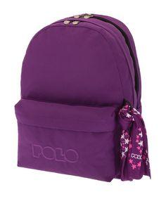 ΣΑΚΙΔΙΟ ORIGINAL POLO DOUBLE SCARF ΜΩΒ 9-01-235-13 School Bags, Polo, Backpacks, Polos, Backpack, Tee, Backpacker, Backpacking, Polo Shirt